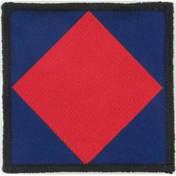 Royal Military Police - Previous Pattern Red Diamond/Dk Blue  Woven Parachute DZ (Drop-Zone) Patch