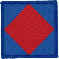 16 Air Assault Brigade - 156 Provo Company RMP Red Diamond/Lt Blue  Woven Parachute DZ (Drop-Zone) Patch
