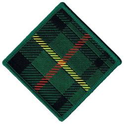 Parachute Regiment - 15th Battalion Hunt' Stewart Tartan  Woven Parachute DZ (Drop-Zone) Patch