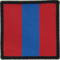 Royal Army Ordnance Corps Red/Blue/Red  Woven Parachute DZ (Drop-Zone) Patch