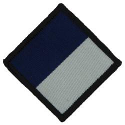 Royal Signals- 210 (24 Airmobile Brigade) Signal Sqn 45mm  White/Blue  Woven Parachute DZ (Drop-Zone) Patch