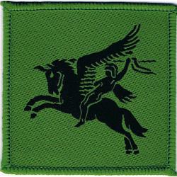 5 Airborne Brigade - Black On Green Pegasus FL - Subdued  Woven Parachute DZ (Drop-Zone) Patch