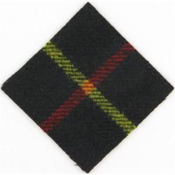 Parachute Regiment - 15th Battalion Hunt' Stewart Tartan  Tartan Parachute DZ (Drop-Zone) Patch