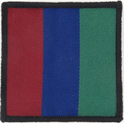 Parachute Regiment - Headquarters - 3rd Pattern Maroon/Blue/Green  Woven Parachute DZ (Drop-Zone) Patch