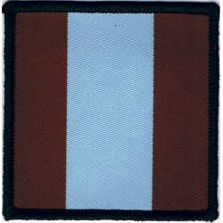 16 Air Assault Brigade - Headquarters Maroon/Blue/Maroon  Woven Parachute DZ (Drop-Zone) Patch