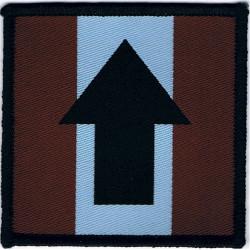 16 Air Assault Brigade Pathfinders - Black Arrow On Maroon/Blue/Maroon  Woven Parachute DZ (Drop-Zone) Patch