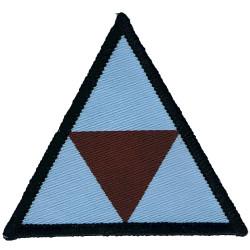 16 Air Assault Brigade - Army Air Corps - 3 Regiment Blue/Maroon Triangle  Woven Parachute DZ (Drop-Zone) Patch