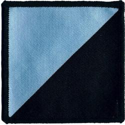 16 Air Assault Brigade - 7 Battalion REME Black/ Blue Diagonal  Woven Parachute DZ (Drop-Zone) Patch