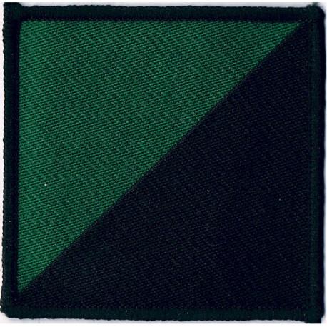 16 Air Assault Brigade - Royal Irish Regiment Green/Black Diagonal  Woven Parachute DZ (Drop-Zone) Patch