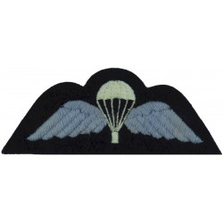 UK Royal Air Force Parachute Wings On Dark Blue Post 72  Embroidered Parachute jump wings or badge