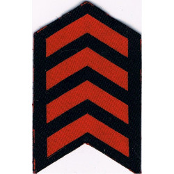 Service Chevrons (4 Years) Civil Defence Corps WW2 Red On Navy Blue  Printed Civil Defence
