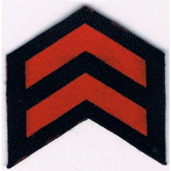 Service Chevrons (2 Years) Civil Defence Corps WW2 Red On Navy Blue  Printed Civil Defence