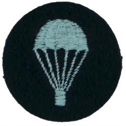 UK Royal Air Force Parachute (Light-Bulb) (Circular) White On Dark Blue  Embroidered Parachute jump wings or badge