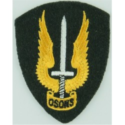 Australian Army Parachute Wings (Summer Uniforms) On Stone Rectangle Woven Parachute jump wings or badge