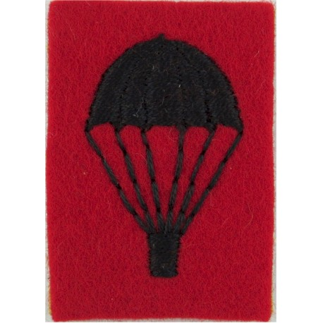UK Army Parachute (Light-Bulb) 2nd KEO Gurkha Rifles Black On Scarlet  Embroidered Parachute jump wings or badge