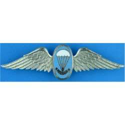 Republic Of South Africa Parachute Instructor Wings Blue Enamel  Chrome and enamelled Parachute jump wings or badge