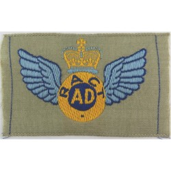 Australian Air Despatcher Wings R Aust Corps Of Tpt On Stone Rectangle with Queen Elizabeth's Crown. Embroidered Parachute jump