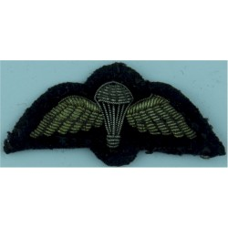 Singapore Commando Parachute Wings - Red Lettering On Olive Rectangle  Embroidered Parachute jump wings or badge