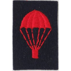 UK Royal Navy Parachute (Light-Bulb) Red On Navy Blue  Embroidered Parachute jump wings or badge
