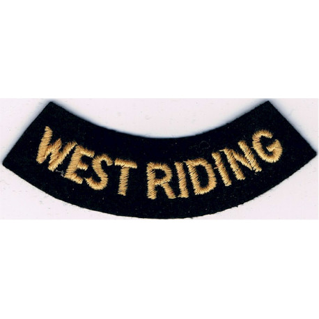 East Sussex (Curved Chest Title) Yellow On Dark Blue  Embroidered Civil Defence