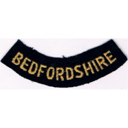 Bath (Curved Chest Title) Yellow On Dark Blue Embroidered Civil Defence