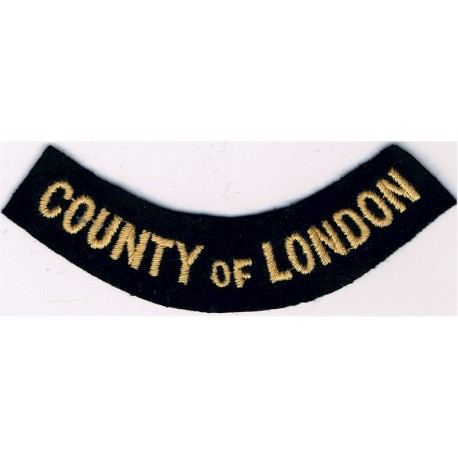 Monmouthshire (Curved Chest Title) Yellow On Dark Blue Embroidered Civil Defence