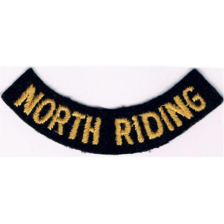 Civil Defence Rank Badge - Single Narrow Bar Yellow On Dark Blue  Braid Civil Defence