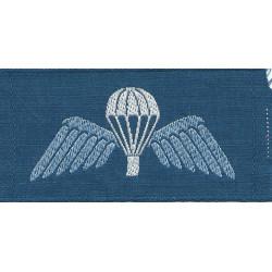 Australian R Aust Air Force Parachute Wings Colour On Blue Rectangle  Woven Parachute jump wings or badge