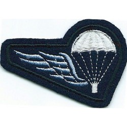 Belgian Parachute 'B' Wing (Half-Wing) On Dark Blue  Embroidered Parachute jump wings or badge