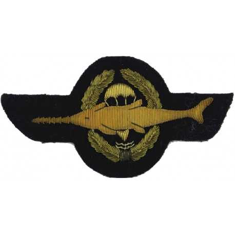 Brazil Senior Parachute Wings - US Army Trained Grey On Olive  Rubberised Parachute jump wings or badge