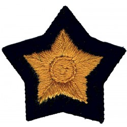 5-Pointed Star: Bounty Qualification Senior Officers Gold On Dark Blue  Embroidered Civil Defence