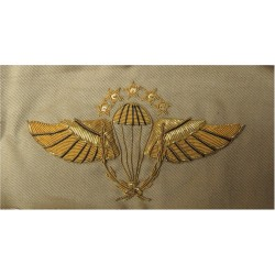Indonesian Master Instructor Parachute Wings 5 Stars (500 Jumps)  Bullion wire-embroidered Parachute jump wings or badge