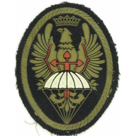 Spain - BRIPAC - Airborne Brigade - Parachute/ Eagle Franco Crown- Colour  Rubberised Airborne or Special Forces insignia