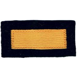 Civil Defence Rank Badge - Single Broad Bar Yellow On Dark Blue  Braid Civil Defence