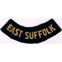 East Suffolk (Curved Chest Title) Yellow On Dark Blue  Embroidered Civil Defence
