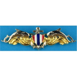 Royal Thai Navy SEAL Badge   Chrome, gilt and enamel Airborne or Special Forces insignia