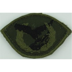 Greek Cyprus Special Forces School Black/Green On Olive  Embroidered Airborne or Special Forces insignia