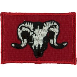 1st Artillery Brigade (Ram's Head On Red Rectangle) Gulf Issue  Embroidered Military Formation arm badge
