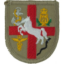 32 Fd Hospital (Shield, Red Cross, White Horse Etc.) Gulf Issue  Embroidered Military Formation arm badge