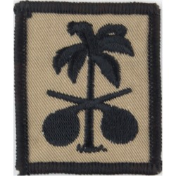 NBC Cells (palm tree & crossed chemical retorts)   Embroidered Military Formation arm badge