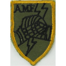 Allied Mobile Force (Shield, Black AMF/Fists/Flash) Hollow Lightning  Embroidered Military Formation arm badge