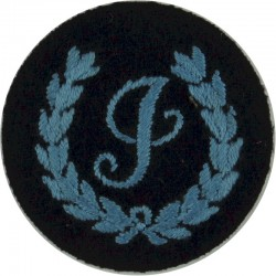 I In Wreath (Instructor - Locally Trained) Blue On Dark Blue  Embroidered Civil Defence