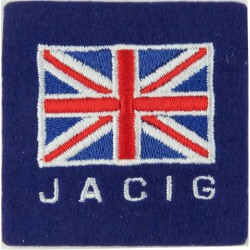 Joint Arms Control Implementation Group Union Jack / JACIG  Embroidered Military Formation arm badge