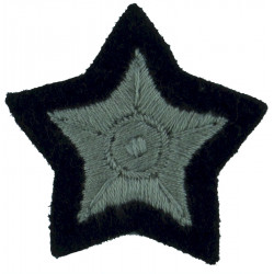 5-Pointed Star: Bounty Qualification Other Ranks Silver On Dark Blue  Embroidered Civil Defence