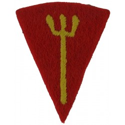 116th (Royal Marine) Infantry Brigade Yellow Trident / Red  Embroidered Military Formation arm badge