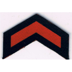 Service Chevron (1 Year) Civil Defence Corps WW2 Red On Navy Blue  Printed Civil Defence