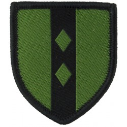 2nd Infantry Brigade Training Team (Black / Olive) January 1994 Issue  Woven Military Formation arm badge