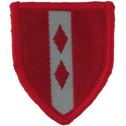 2nd Infantry Brigade Training Team (Red / White) May 1994 Issue  Woven Military Formation arm badge