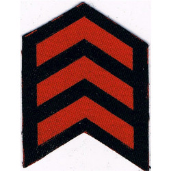 Service Chevrons (3 Years) Civil Defence Corps WW2 Red On Navy Blue  Printed Civil Defence