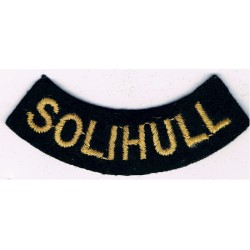 Solihull (Curved Chest Title) Yellow On Dark Blue  Embroidered Civil Defence